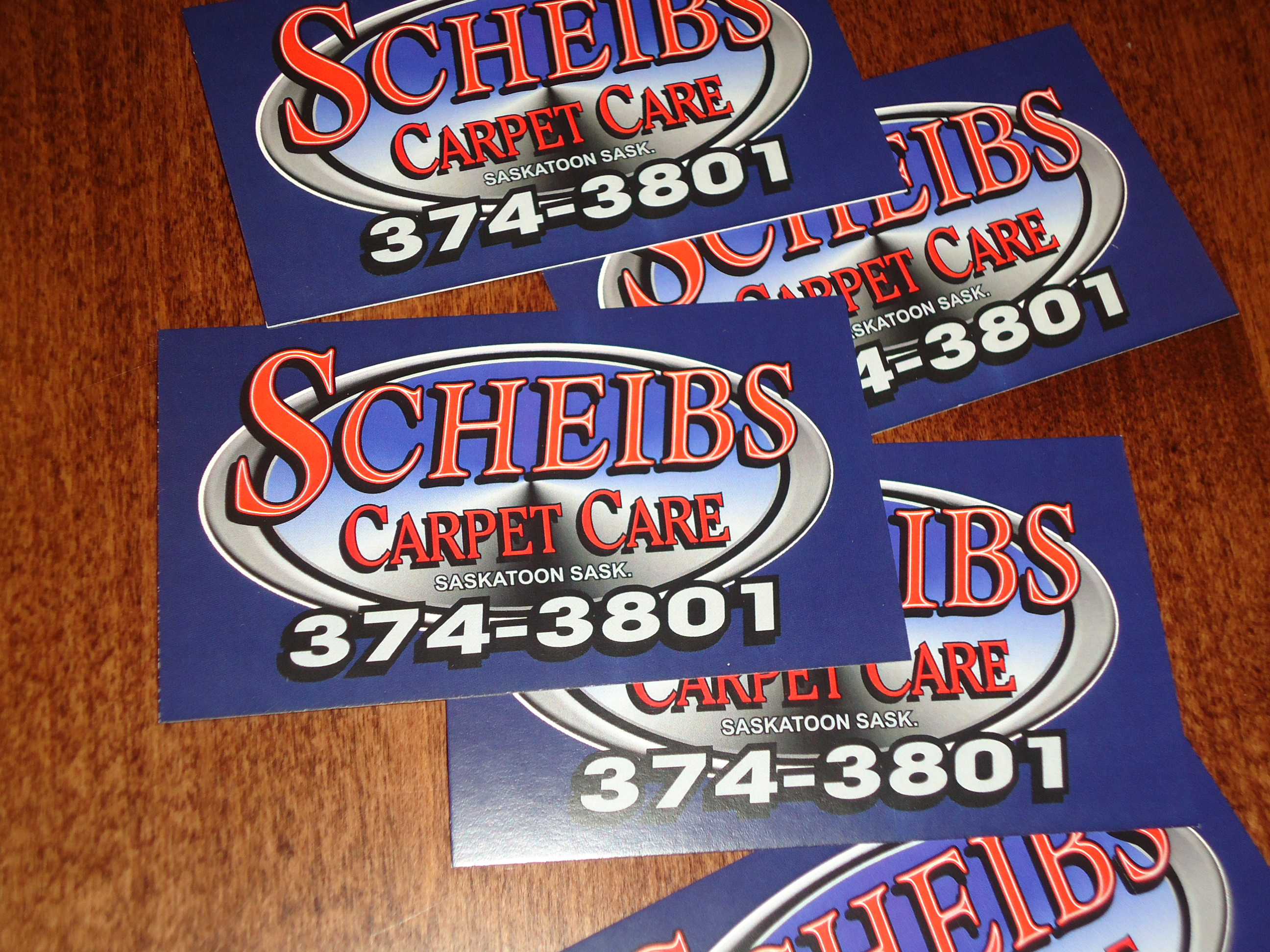 New business cards | Scheibs Carpet Care & Furnace Cleaning